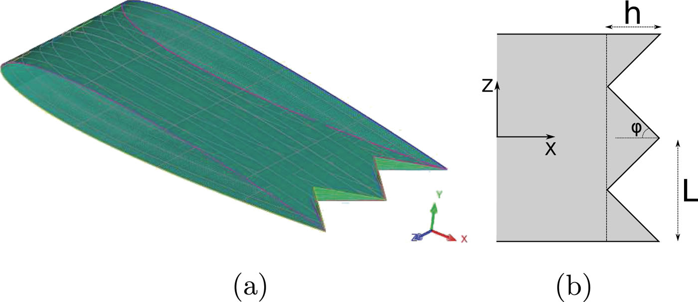 Effect of trailing edge shape on the separated flow