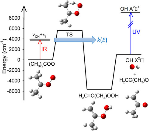 Tunneling effects in the unimolecular decay of (CH3)2COO