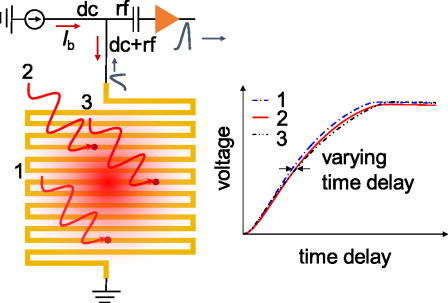 Inhomogeneity-induced timing jitter of superconducting