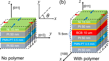 Enhanced magnetoelectric coupling in a composite
