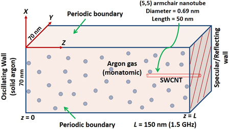 Molecular dynamics simulations of acoustic absorption by a
