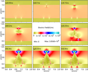 Enhancement of surface discharge in catalyst pores in dielectric