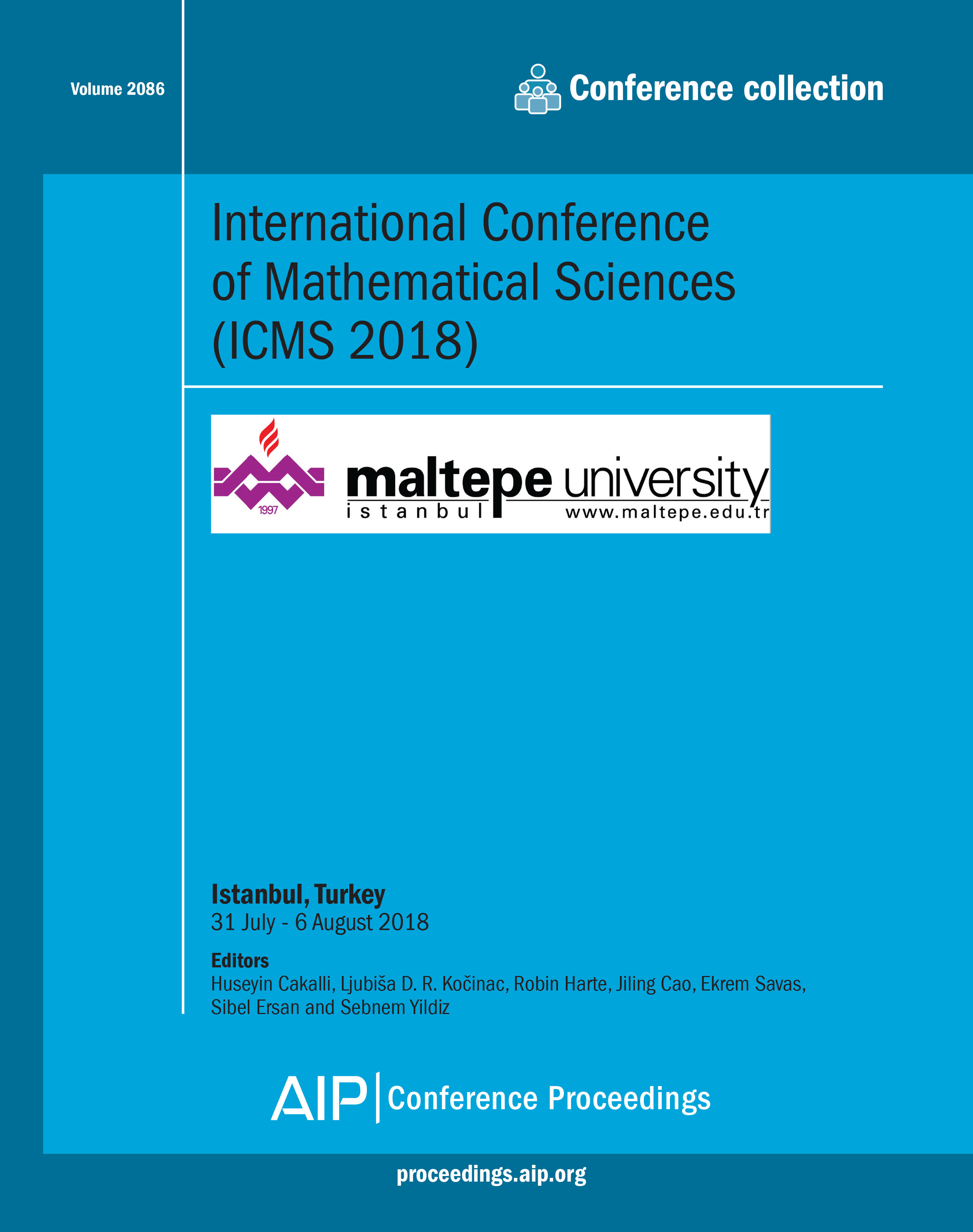 Preface: International Conference of Mathematical Sciences