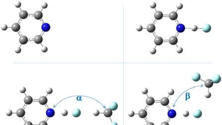 Solvent effects on acid-base complexes  What is more important: A