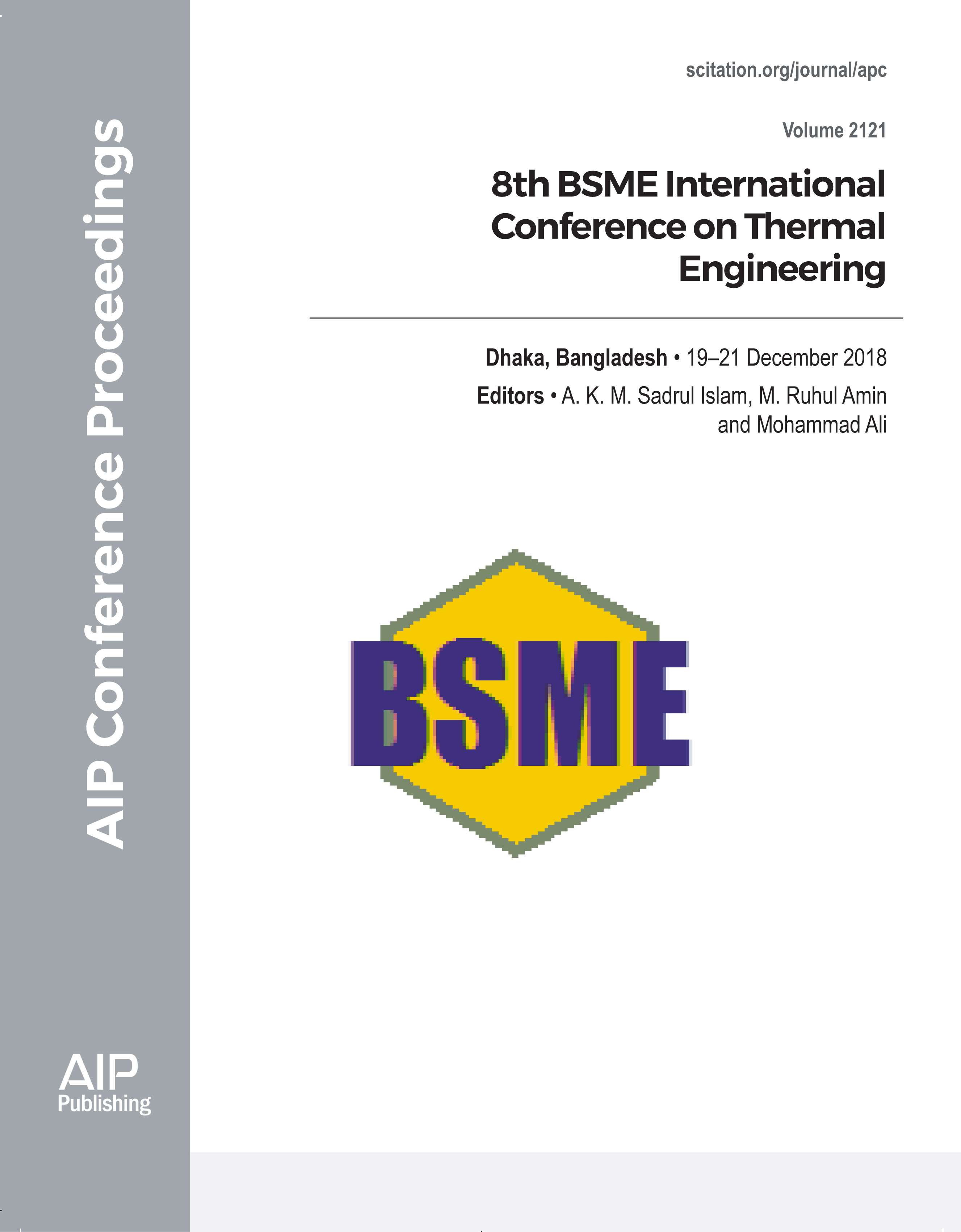 Preface: 8th BSME International Conference on Thermal