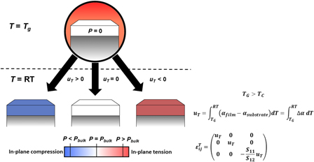 Ferroelectric films on metal substrates: The role of thermal expansion mismatch on dielectric, piezoelectric, and pyroelectric properties