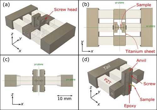 Piezoelectric-based uniaxial strain cell with high strain throughput and homogeneity